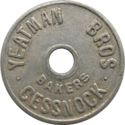 1 Loaf Bakery Token - Yeatman Bros. Bakers (Cessnock, New South Wales) – obverse