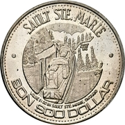 Bon Soo Dollar - Sault Ste. Marie, Ontario – obverse