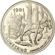 1 Dollar - North Bay, Ontario – obverse