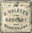 25 Cents - F. Walker's Grocery (Norwich, Ontario) – obverse