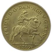 Token - Kijafa (1 Ducat - Frederik V) – obverse