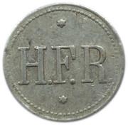 Bottle Deposit Token - H.F.R. – obverse