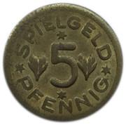 5 Pfennig (Spielgeld; Chrysanthemum) – obverse
