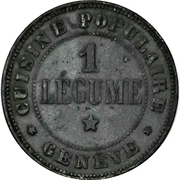10 Сentimes / 1 Légume - Cuisine Populaire (Geneva) – obverse