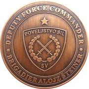Token - Slovenska vojska (Brigadier Alojz Šteiner, coloured) – obverse