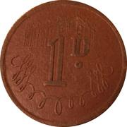 1 Penny - J. T. Parrish (Newcastle on Tyne) – reverse