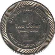 2 Dollar Gaming Token - Rideau Carleton Raceway (Gloucester, Ontario) – reverse
