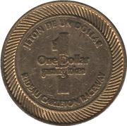 1 Dollar Gaming Token - Rideau Carleton Raceway (Gloucester, Ontario) – reverse