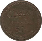 50 Cent Gaming Token - Casino Edmonton (Edmonton, Alberta) – reverse