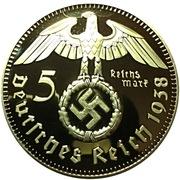 Replica - 5 Reichsmark (Paul Von Hindenburg) – obverse