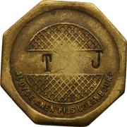"Token - Aloyse Anen Fils Luxembourg (countermarked ""T J"") – obverse"