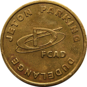 Parking Token - FCSD (Dudelange) – reverse