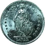 ½ Franc (Lauer) – obverse