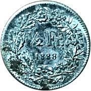 ½ Franc (Lauer) – reverse