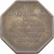 Jeton - 200 years of the Chamber of commerce of Bayonne – obverse