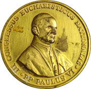 Medal - 3rd National Eucharistic Congress – obverse