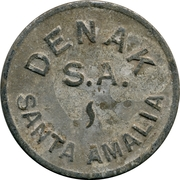 Token - DENAK S.A. (Santa Amalia) – obverse