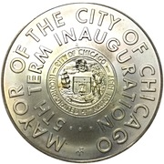 Token - Mayor Richard J Daley (5th Term Inauguration) – obverse