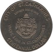 1 Dollar - St-Catharines, Ontario – reverse