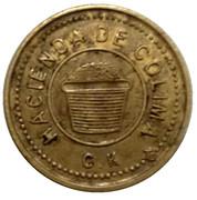 Wage Token - Hacienda de Colima. Alejo C. Jimenez – reverse