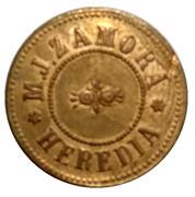 12 ½ Centavos - M. J. Zamora (Santo Domingo, Heredia) – obverse