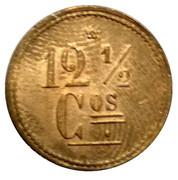 12 ½ Centavos - M. J. Zamora (Santo Domingo, Heredia) – reverse