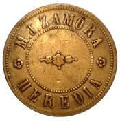 10 Centavos - M. J. Zamora (Santo Domingo, Heredia) – obverse