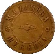 15 Centavos - M. J. Zamora (Santo Domingo, Heredia) – obverse