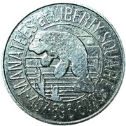 Token - Manatees at Liberty Square (Orlando, Florida) – reverse
