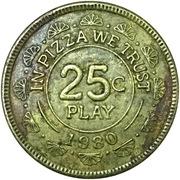 25 Cents - Chuck E. Cheese (Raleigh, North Carolina) – reverse