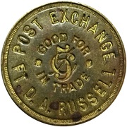 5 Cents - Post Exchange (Fort Russell, Wyoming) – obverse