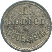 Token - L. Kerber (Rödelheim) – reverse