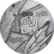 Token - 75th Anniversary of the Jungfraubahn – obverse