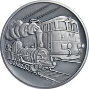 Token - 125th Anniversary of the Eisenbahn railway – obverse