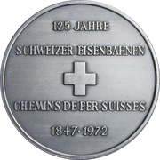 Token - 125th Anniversary of the Eisenbahn railway – reverse