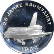 Token - Space flight Commemorative Series (Space shuttle and Sputnik) – obverse