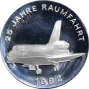 Token - Space flight Commemorative Series (Space shuttle and Sputnik) – obverse