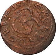 1 Solidus - Imitating Carl XI, 1660-1697 (Suceava counterfeit; type 2) – obverse