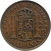 Filipinas - 4 Pesos - Alfonso XII – reverse