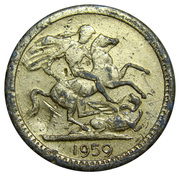 New Year Token (Victoria) – reverse