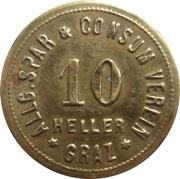 10 Heller - Allgemeine Spar & Consum Verein (Graz) – obverse