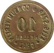 10 Heller - Allgemeine Spar & Consum Verein (Graz) – reverse
