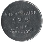 Token - Chicoutimi 125th Anniversary – obverse