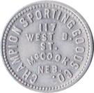 10 Cents - Champion Sporting Goods Co. (McCook, Nebraska) – obverse