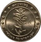 Token - Wyoming State Flower – reverse