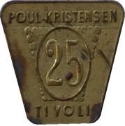 25 Øre - Poul Kristensen (Copenhagen) – obverse