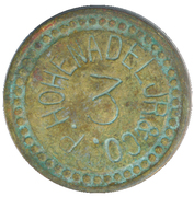 3 Cents - P. Hohenadel Jr. & Co. – obverse