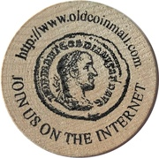 Old Time Wooden Nickel – reverse