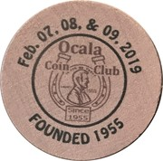 Wooden Nickel - Ocala Coin Club – obverse