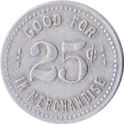 25 Cents - Farmers Union Company Store (Weston, Nebraska) – reverse